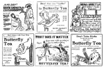 Excelsior Coffee and Butterfly Tea ads 1905-1921 VARIETYcopy