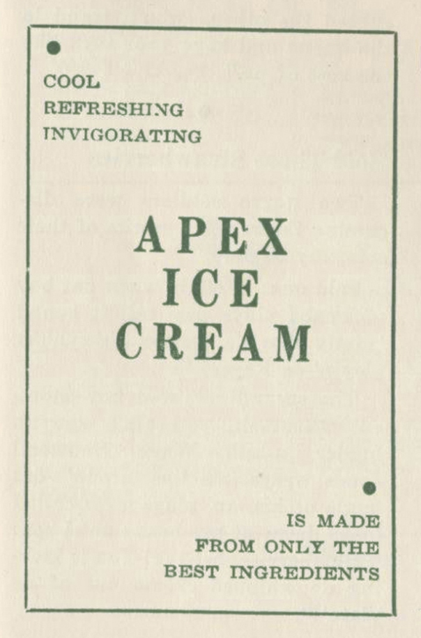 APEX ICE CREAM - CONTACT MAGAZINE Volume 3 No  2 Jan Feb 1943 Page 64 and 65 crop copy