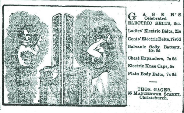 THOMAS GAGER'S ELECTRIC BELTS  Press, Volume L, Issue 8640, 15 November 1893, Page 7